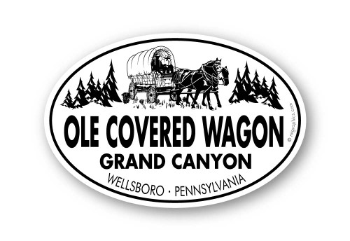Wholesale Classic Covered Wagon Sticker