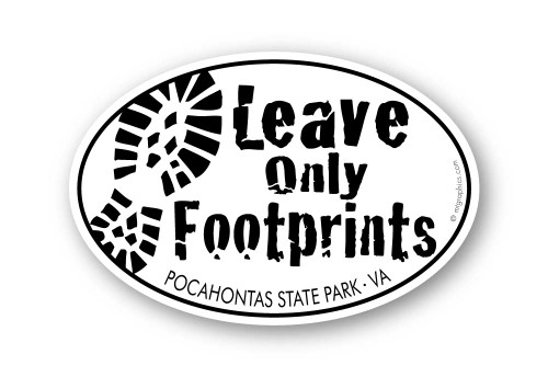 Wholesale Leave Only Footprints Sticker