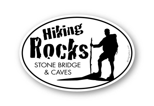 Wholesale Hiking Rocks Sticker