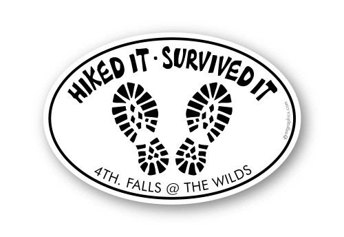 Wholesale Hike It Survived It Tracks Sticker