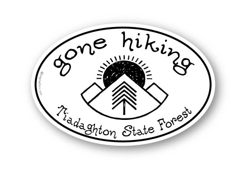Wholesale Gone Hiking Sticker