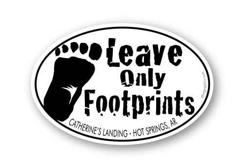 Wholesale Leave Only Footprints - Bigfoot Sticker