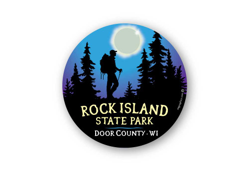 Wholesale Moonlight Hiker Sticker