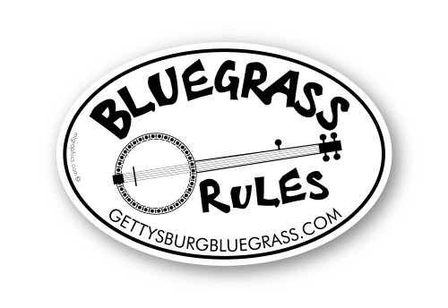 Wholesale Bluegrass Banjo Sticker
