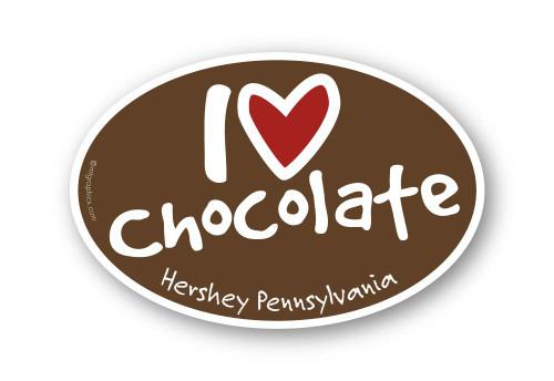 Wholesale I Love Chocolate Sticker