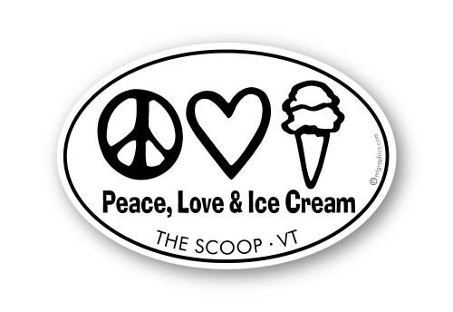 Wholesale Peace Love Ice Cream Sticker