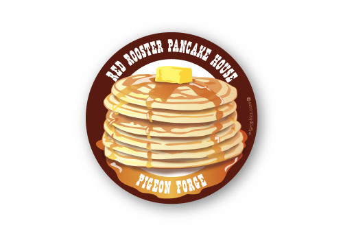 Wholesale Pancakes Sticker - Dark Background