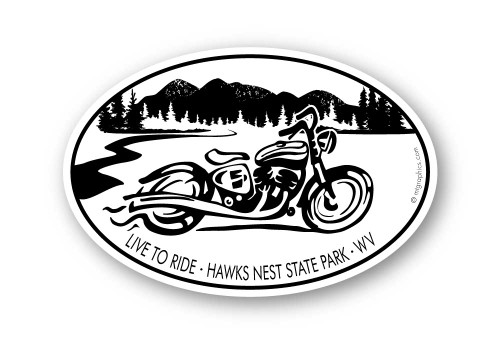 Wholesale Mountain Motorcycle Sticker