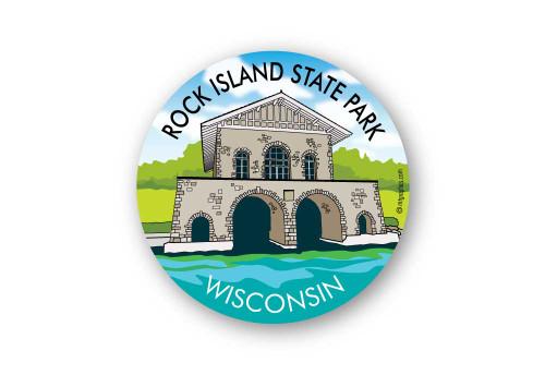 Wholesale Rock Island Boathouse Sticker