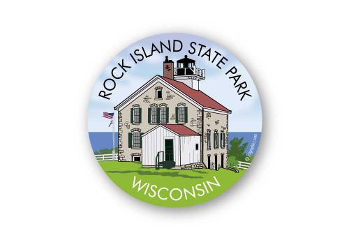 Wholesale Rock Island Lighthouse Sticker