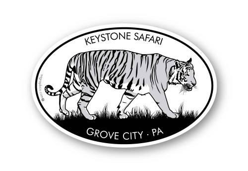 Wholesale Tiger Walking Sticker