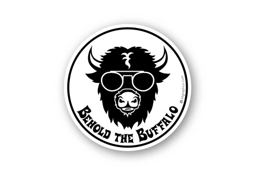 Wholesale Buffalo with Glasses Sticker