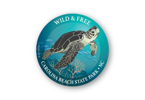 Wholesale Sea Turtle Sticker - Round