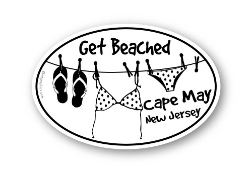 Wholesale Get Beached Sticker