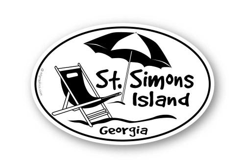 Wholesale Umbrella on the Beach Sticker