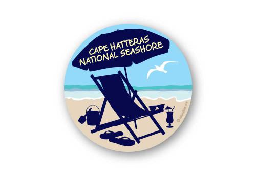 Wholesale Beach Chair Sticker - Round