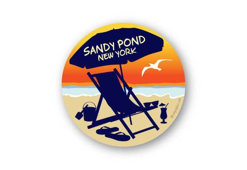 Wholesale Sunset Beach Chair Sticker