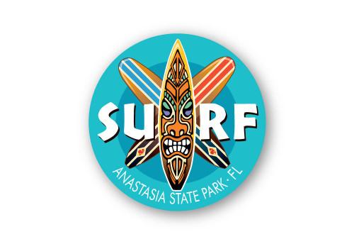 Wholesale Surf Boards Blue Sticker