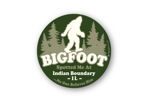 Wholesale Bigfoot Spotted Me Sticker