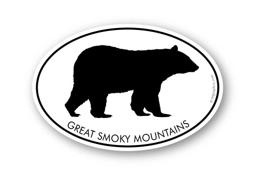 Wholesale Black Bear Sticker - Oval