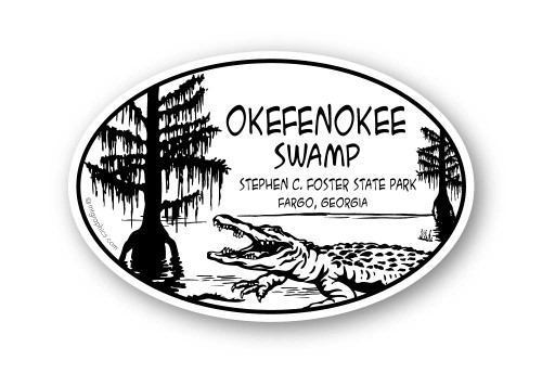 Wholesale Black Cypress Gator Sticker