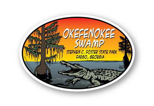 Wholesale Cypress Gator Sticker