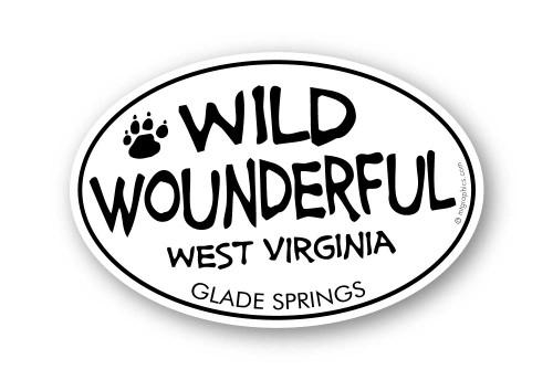 Wholesale Wild Wounderful Sticker