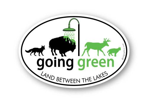 Wholesale Going Green Buffalo Sticker