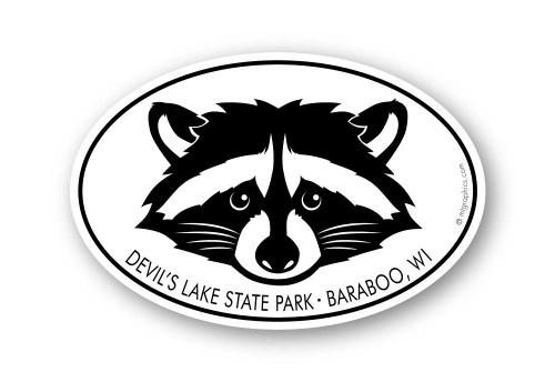 Wholesale Raccoon Head Sticker