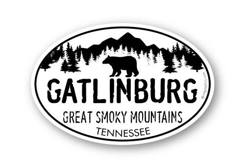 Wholesale Black Bear in Mountains Sticker