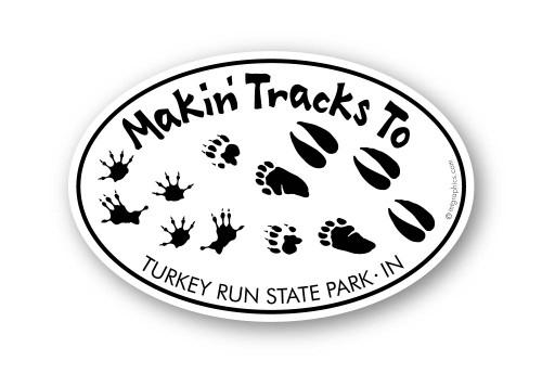 Wholesale Animal Tracks Sticker