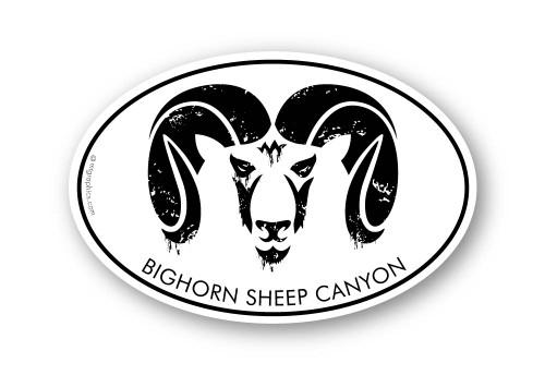 Wholesale Bighorn Head Stamp Sticker
