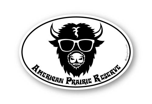 Wholesale Buffalo Glasses Sticker - Oval