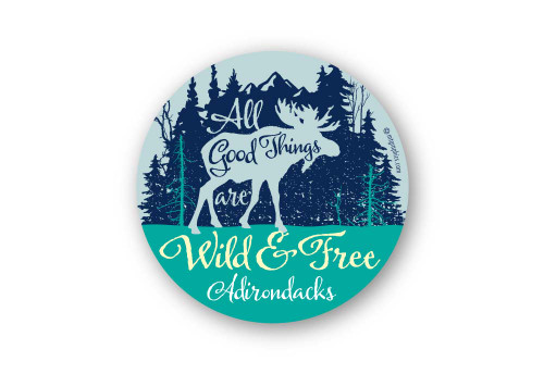 Wholesale Wild and Free Moose Sticker