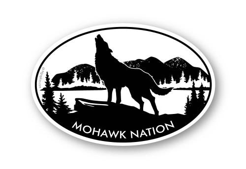 Wholesale Wolf Sticker - Oval