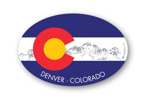 Wholesale Colorado Flag Sticker