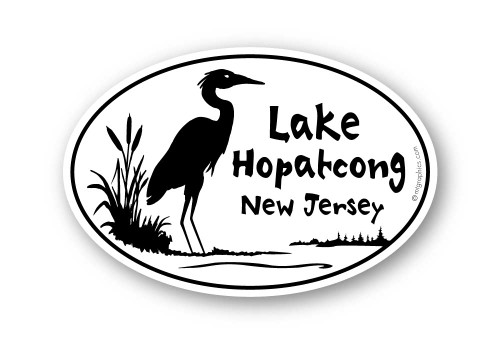 Wholesale Heron Sticker - Oval