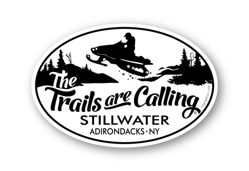 Wholesale Trails are Calling Snowmobile Sticker