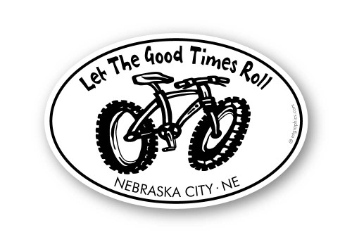 Wholesale Let The Good Times Roll Fat Tire Bike Sticker