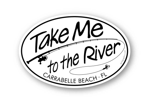 Wholesale Take Me to the River Fishing Sticker
