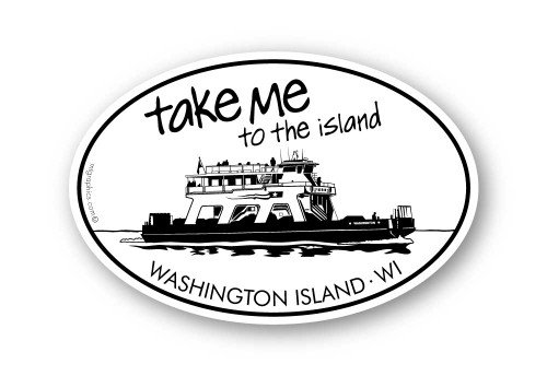 Wholesale Island Ferry Sticker