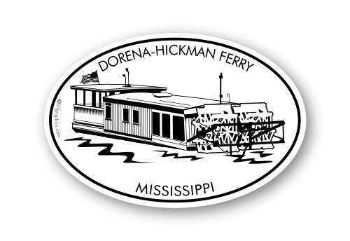Wholesale Paddleboat Ferry Sticker