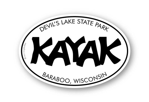Wholesale Funky Kayak Sticker