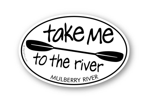 Wholesale Take Me to the River Kayak Paddle Sticker