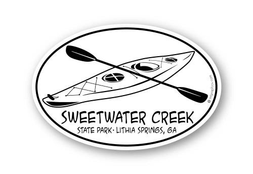 Wholesale Kayak and Paddle Sticker