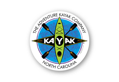 Wholesale Kayak Sticker - White