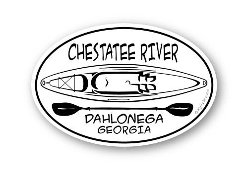Wholesale Sit on Kayak and Paddle Sticker