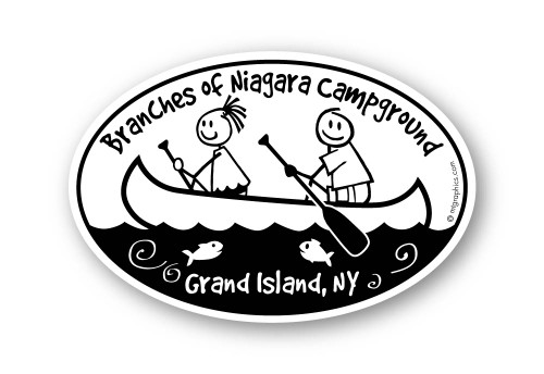 Wholesale Kids in Canoe Sticker