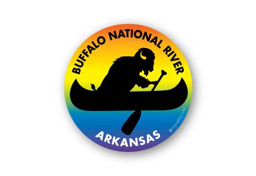 Wholesale Buffalo in Canoe Sticker