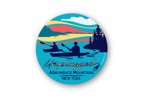 Wholesale Unplugged Kayak Sticker